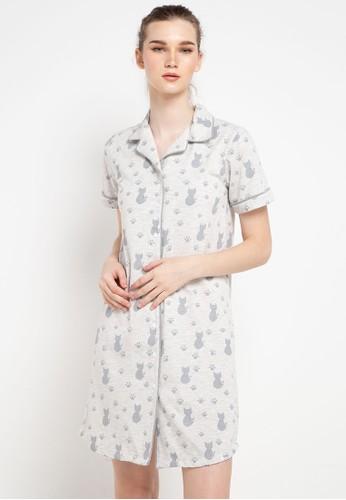 Puppy multi Dress Daster Stripe Sleepwear 49CBDAA356FDF0GS_1
