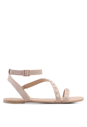 Call It Spring beige Thewet Sandals 6D8BDSH2994BFFGS_1