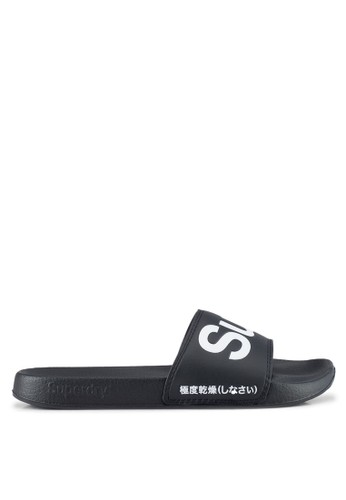 Superdry black and white SUPERDRY POOL SLIDE 7CAD8SH7671045GS_1