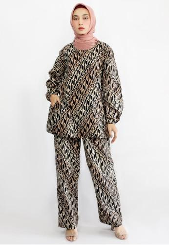INA PRIYONO black and brown NAMIRA SET BATIK Mocca by Ina Priyono F3C37AA681A58AGS_1