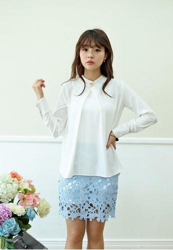 Maesprit香港分店lia 立領長袖上衣, 服飾, 簡約優雅風格