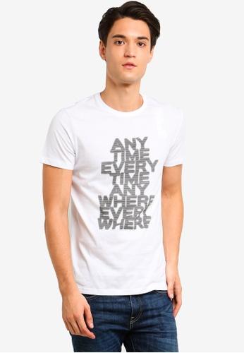 ESPRIT 白色 短袖T恤 D89B6AAD66CE08GS_1