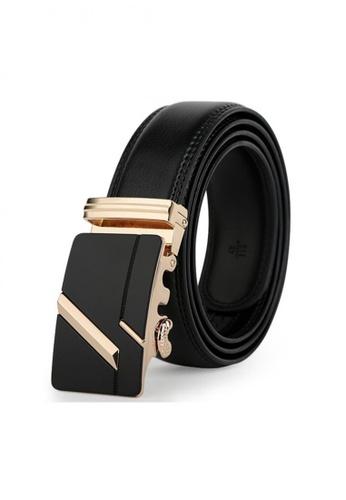 Jackbox black Dante Premium Leather Automatic Buckle Men's Belt 805 (Gold) JA762AC20MYDMY_1