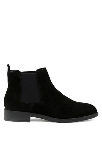 RAG&CO black Black Leather Classic Chelsea Boots RCSH1679 529EBSHA09454CGS_1
