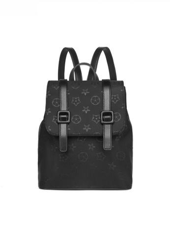 Twenty Eight Shoes black Fashionable Nylon Oxford Monogram Backpack JW YU-20201216 A7527AC50ADA13GS_1
