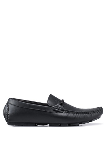 Rocklander black Perforated Loafers 263DBSH3407494GS_1