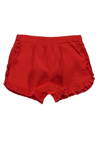 LC Waikiki red Baby Girl Ruffle Shorts 09DE5KAC3B2D85GS_1