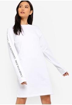 6d6a87c8ef1 Calvin Klein white Institutional Logo Dress - Calvin Klein Jeans  D0B64AA21AFED6GS 1
