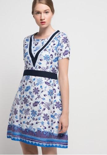 Rianty Batik white Dress Savira RI993AA76NIDID_1