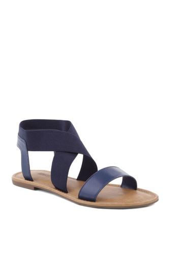 Anacapri navy Elastic Flat Sandals FF453SHFF75EABGS_1