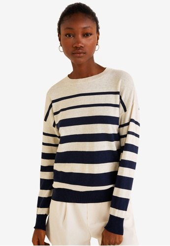 1617a5127 Shop MANGO Striped Cotton Sweater Online on ZALORA Philippines