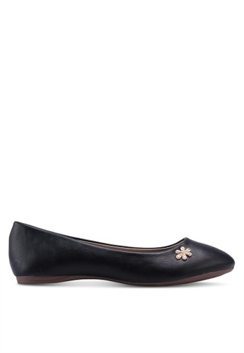 Spiffy black The Different Classic Ladies Casual Cover Flats A6188SHEC4C622GS_1