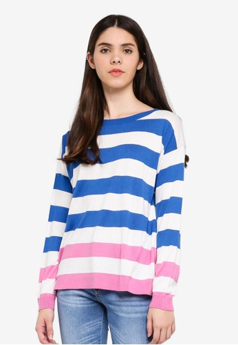 United Colors of Benetton multi Striped Knit Sweater 91C5AAA71DDF89GS_1