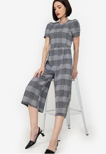 ZALORA WORK multi Puff Sleeves Culotte Jumpsuit D056AAA1CCD029GS_1