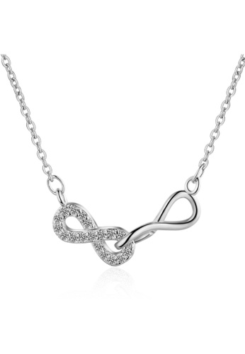 Obsession gold OBSESSION Double Infinity Friendship Forever Necklace White Gold 26AC4ACEB30C4AGS_1