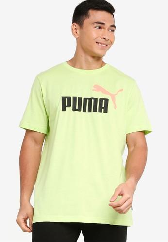 PUMA green Puma Sportstyle Core Ess 2 Col Logo Tee 0667BAAABD7600GS_1