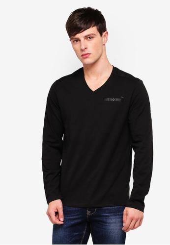 Guess 黑色 Guess V領針織衫 CB91AAAE3A60A8GS_1