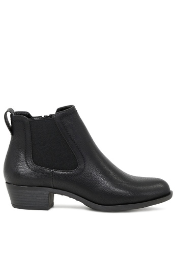 London Rag black Ankle Length Boots with Side Zipper SH1738 39A80SHFABEA19GS_1