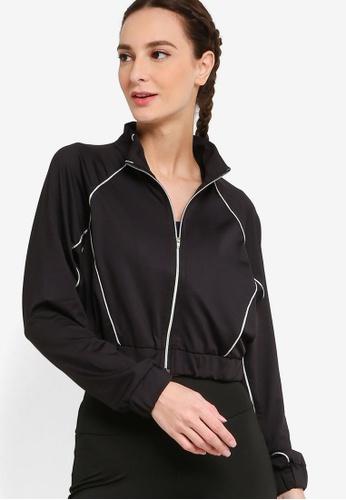 ZALORA ACTIVE black Contrast Trim Sport Jacket AD6AFAA5FE3779GS_1