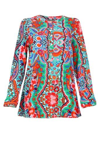 POPLOOK white Gracelyn Henley Blouse 6D617AA6EC1603GS_1