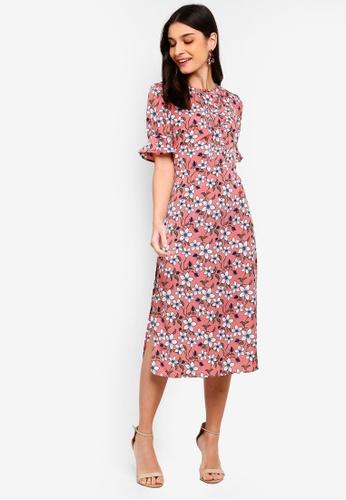 ZALORA pink and multi Pleats Details Dress 8E20AAA6CB8F53GS_1