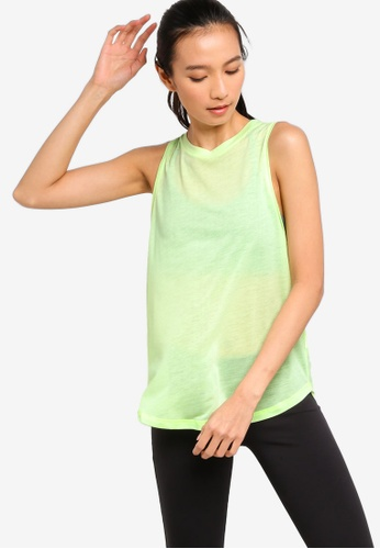 Cotton On Body yellow and green Mock Neck Tank Top DC17EAAB6AD080GS_1