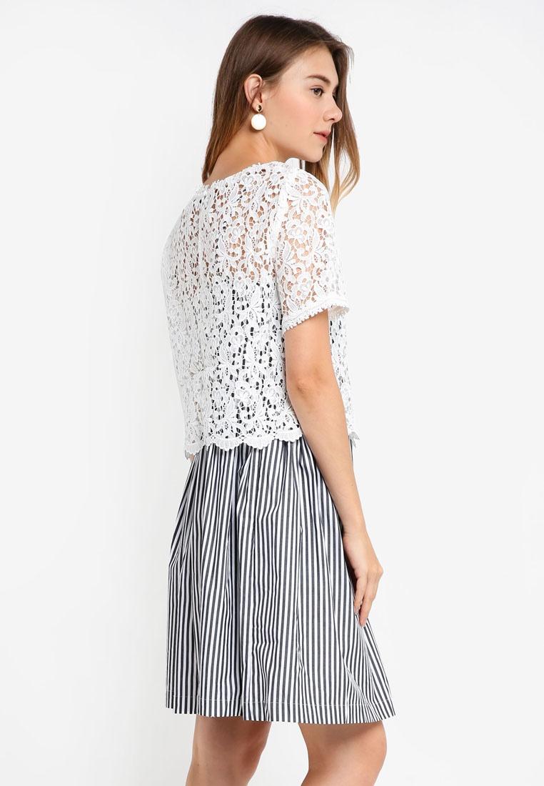 fa50c251002a ... Flared Stripe Connection White Sardinia Black Summer Dress French  g5BwwWq7 ...