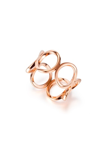 CELOVIS gold CELOVIS - Dorothea Hollow Oval Circle Eternal Ring in Rose Gold 0ABFEAC3BE2969GS_1
