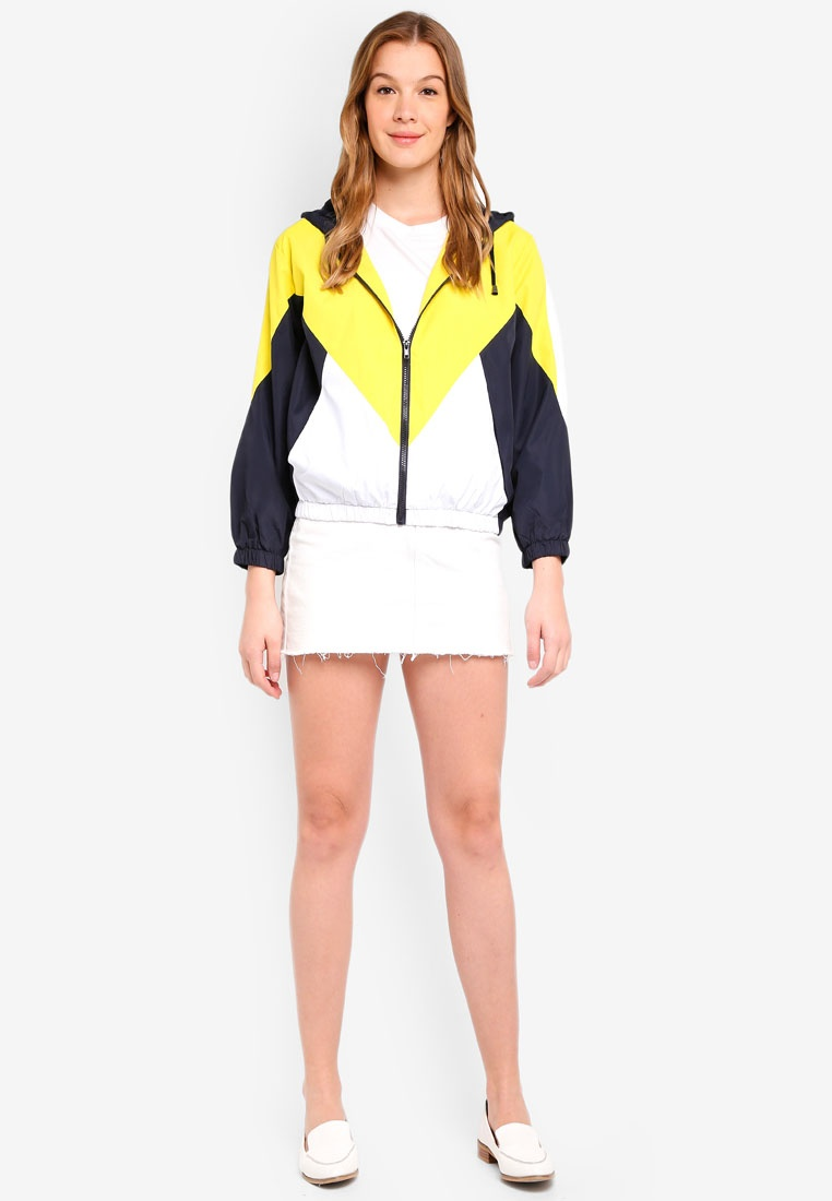 Yellow Yellow Jacket TOPSHOP Yellow Windbreaker TOPSHOP Jacket Windbreaker qwzxP0