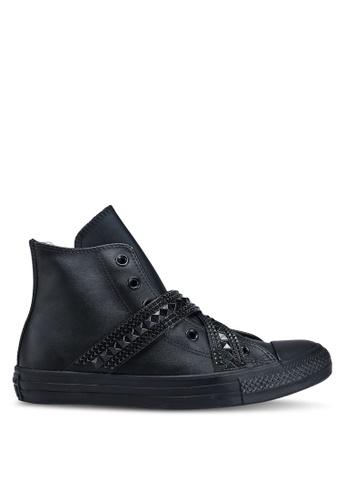 Converse 黑色 繞帶高筒運動鞋 CCEAESH5CE1849GS_1