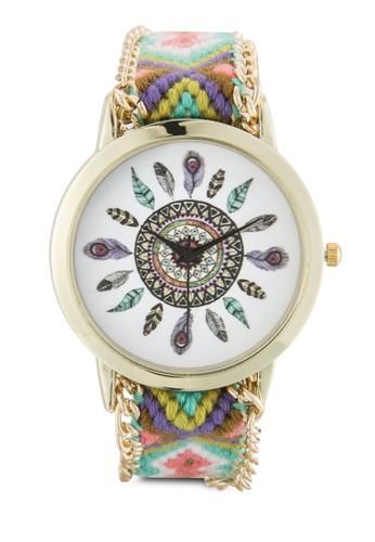 Wild Lavenesprit outlet 香港der 編織腕帶圓錶, 錶類, 休閒型