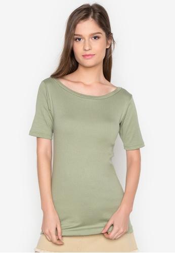Organic green Boat Neck Shirt OR165AA0J28MPH_1