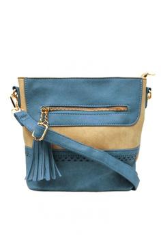 ffac1273cd5a KCross blue Sling Bag with Tassel AT1112 BDEC6ACEBB2A0DGS 1