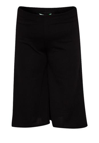 Curvy black Plus Size Wide Leg Cropped Culottes 05317AA48B1D8BGS_1