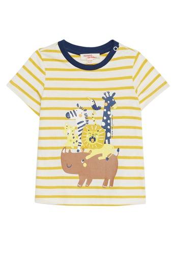 Du Pareil Au Même (DPAM) white Savannah Stripe T-Shirt B9923KAC961581GS_1