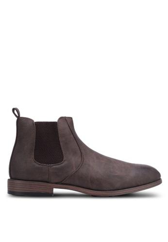 River Island brown Chelsea Boots RI009SH0S31AMY_1
