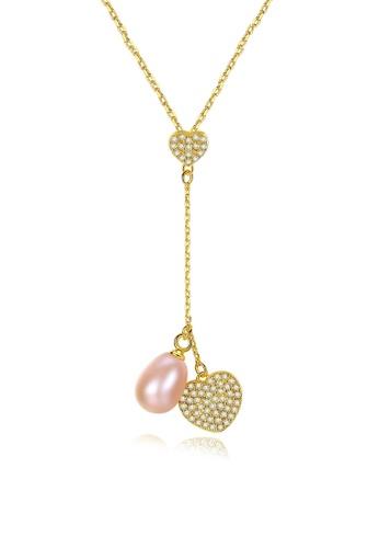 A.Excellence pink Premium Pink Pearl Elegant Necklace D5336AC45106C6GS_1