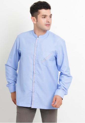 NextUp blue Koko Lengan Panjang 1174 Bordir - Biru Muda 20774AA4445F41GS_1
