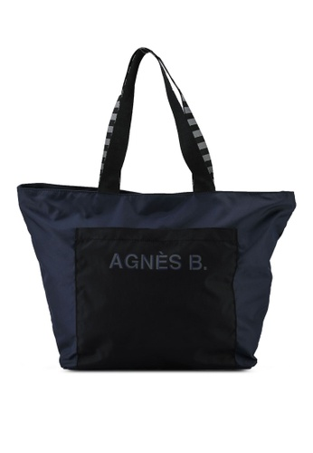 agnès b. blue Tote Bag 887B7AC077A48EGS_1