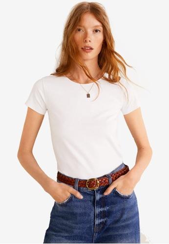 Mango white Essential Cotton T-Shirt 8CEF7AA7F2DA7CGS_1