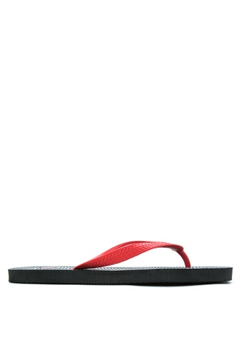 BENCH black Printed Rubber Slippers BE550SH09MBEPH_1