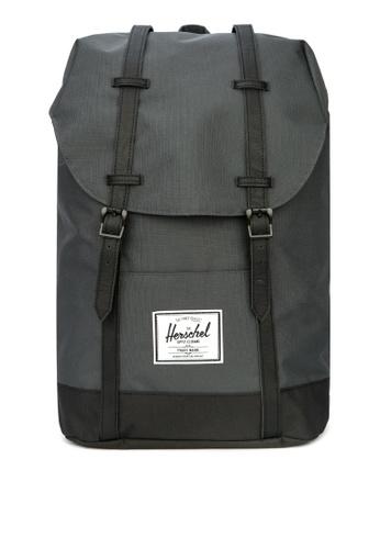Herschel black Retreat Backpack 9C064AC517BAC2GS_1