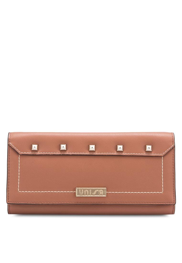 Unisa Studded Fashion Tri-Fold Long Ladies Wallet