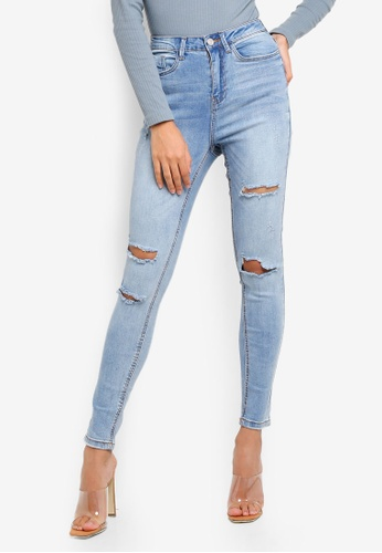 ec9f0c3bb63 Buy MISSGUIDED Sinner High Waist Authentic Ripped Jeans Online on ZALORA  Singapore