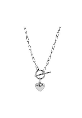 LYCKA silver LDR1341 S925 Silver Pearls and Hearts Necklace 26342ACA1FDA10GS_1