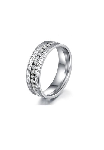 ADORA Stainless Steel Zircon Ring AD365AC2VPNYHK_1