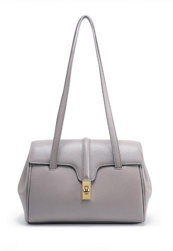 Twenty Eight Shoes grey VANSA Nappa Leather Handle Single shoulder Bag VBW-Hb8180L 74118AC17E092BGS_1