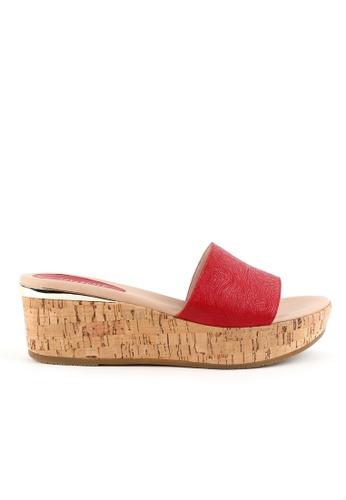 Joy & Peace red Cork Sandals JO458SH81JMCHK_1