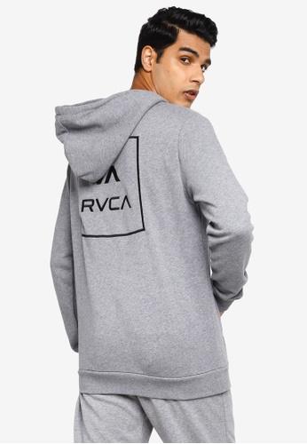 RVCA grey RVCA All The Ways Pullover Sweatshirt 14039AA10D419DGS_1