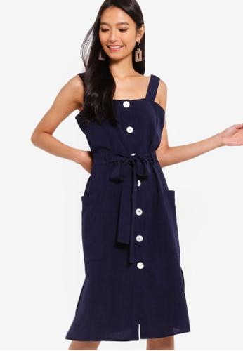 Buy ZALORA Button Down Midi Dress Online on ZALORA Singapore 22a901232